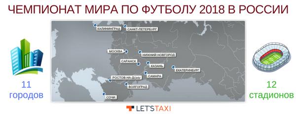 карта городов чемпионата по футболу