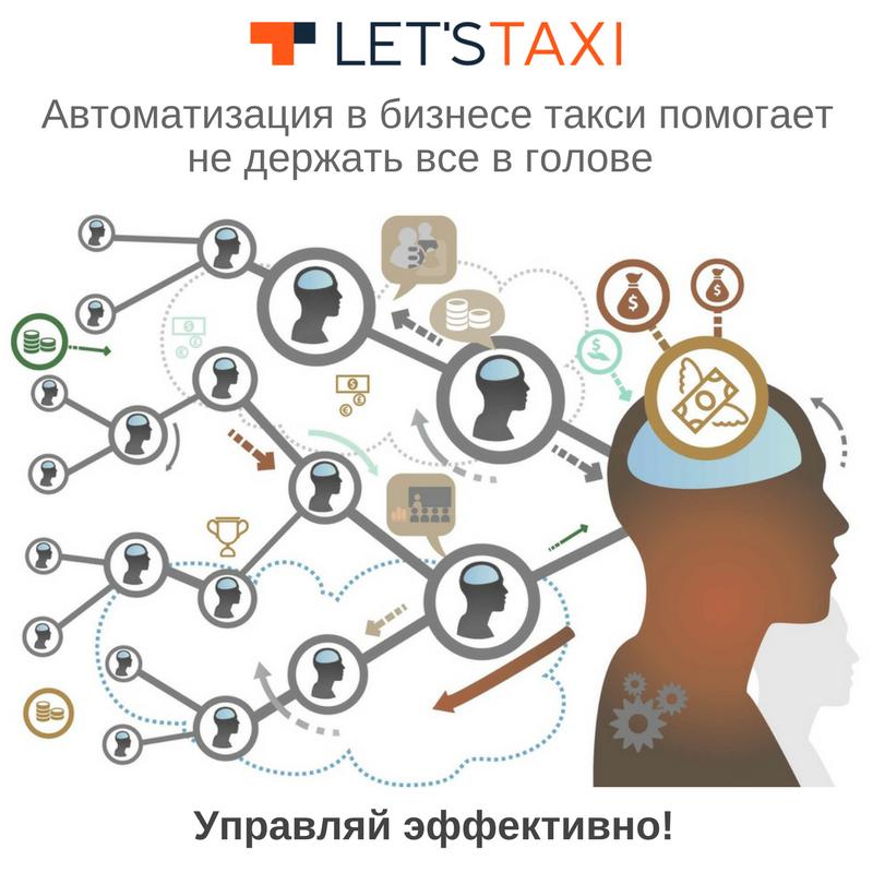 управление таксопарком let`s taxi