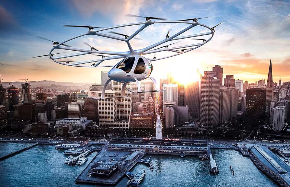 Воздушное такси Volocopter Дубае