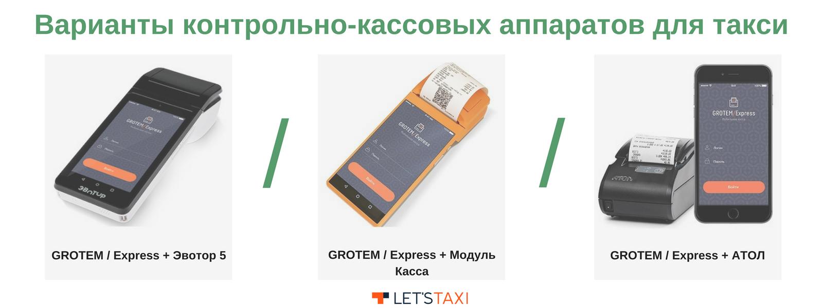 ККТ для такси grotem